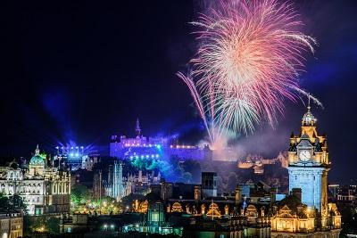 Edinburgh fireworks display